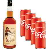 Komplet Sailor Jerry 0,7 l + 4x Coca Cola 0,33 l